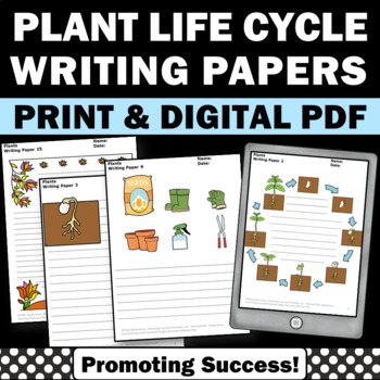 Plants Writing Papers for Spring or Summer School Science