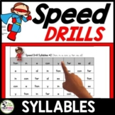 Syllables Speed Drills {320 Syllables}