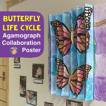 Life Cycle of a Butterfly 3-Way Agamograph Collaboration Poster