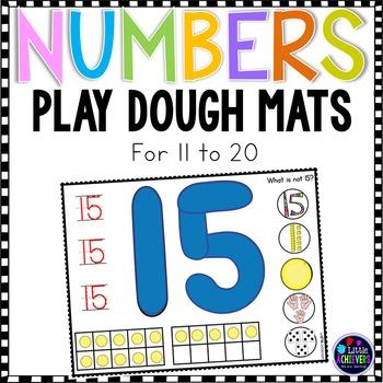 Number Playdough Mats 11 to 20