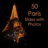 50 Paris Slides w/ Photos for Novel Study and Bulletin Boards