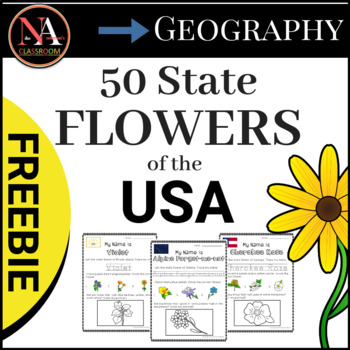 50 State Flowers of the USA FREEBIE (3 States)