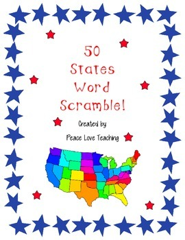50 State Word Scramble