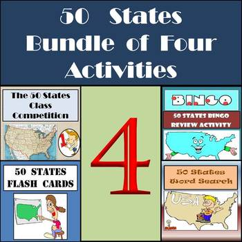 50 States Activities Bundle - Four Different Activities