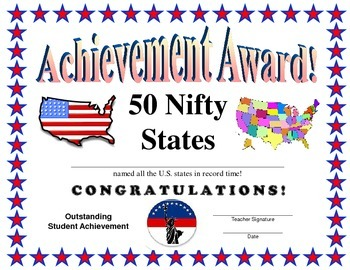 50 States Certificate
