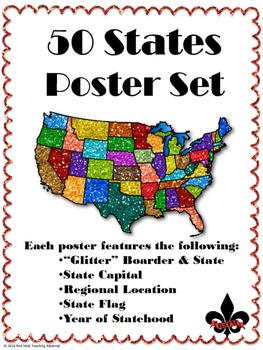 50 States Poster Set