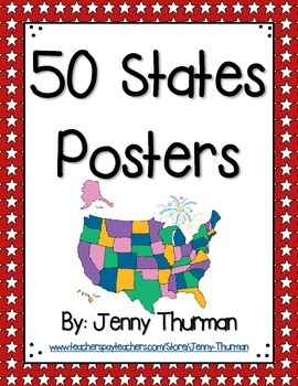 50 States Posters