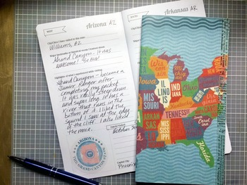 50 States Pretend Passport - Fits Reg. Midori Travel Notebook