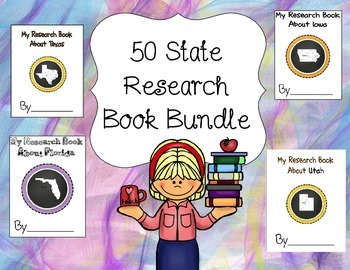 50 States Research Book Bundle