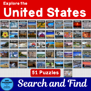50 States Search and Find