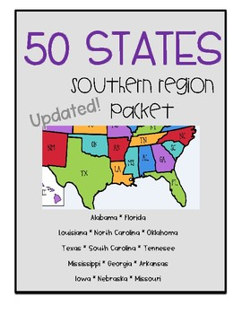 50 States - Southern Region Packet