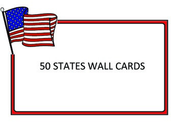 50 States Wall Cards with Birds and Flowers