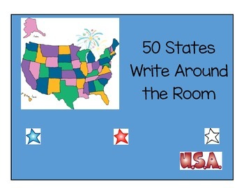 50 States Write the Room Activities