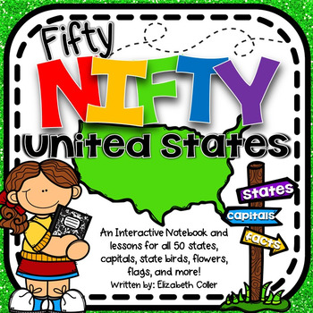 50 States and Capitals Interactive Notebook - 50 Nifty Uni