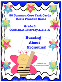 Common Core Grade 3 ELA Pronouns! 50 Task Cards and Game! Centers