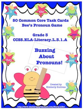 Morning Work  ELA Pronouns! 50 Task Cards Game Common Core