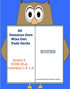 Task Cards Nouns Common Core! Morning work