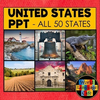 50 United States Regions Photos PowerPoint Bundle - All 50 States