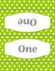 50 White Dots Group Station Table Topper and Labels