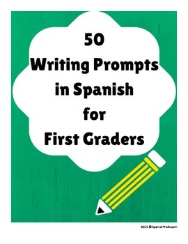 50 Writing Prompts in Spanish (50 Hojas de Escritura para