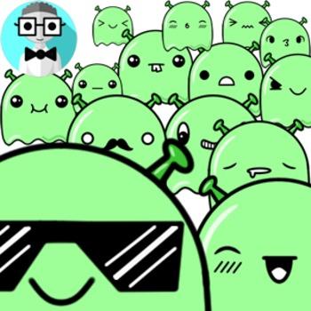 100 cute aliens [Emotions Pack]