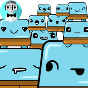 50 cute trapezoids [Emotions Pack]