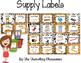 Editable Classroom Supply Labels {Jungle Zoo Safari Theme }
