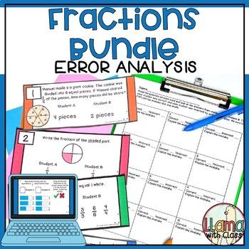 Find the Mistake: Fraction Bundle {Task Cards}