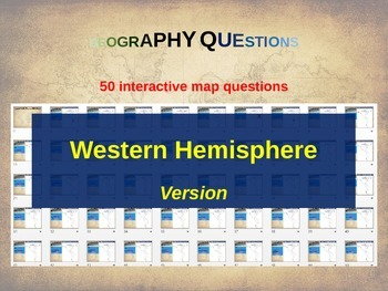50 geography questions on an interactive map - WESTERN HEM