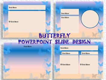 BUTTERFLY - Editable Template - slide design - PowerPoint