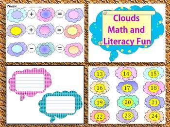 Clouds - Math and Literacy Fun