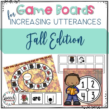 Game Boards for Increasing Utterances - Fall Edition