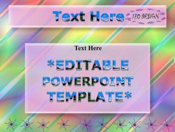 Winter Activities - Writing - Editable Powerpoint templates