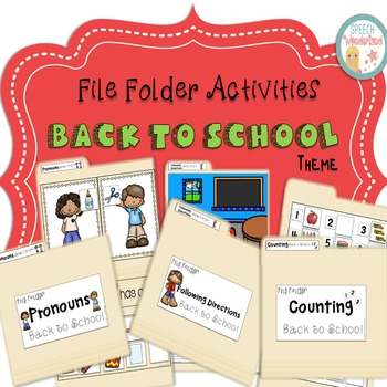 File Folder Activities Back to School Theme