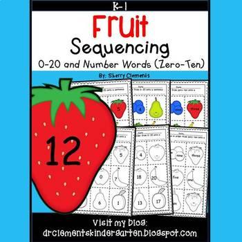 Fruit Sequencing 0-20 and Number Words (zero-ten)