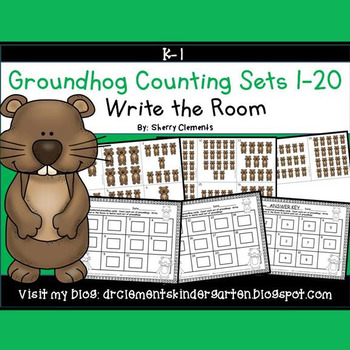 Groundhog Write the Room (Counting Sets 1-20)