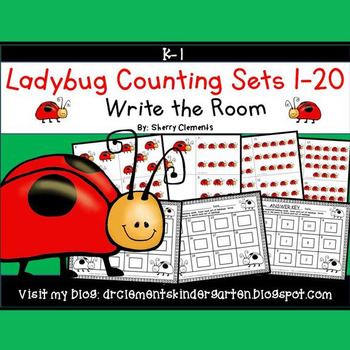 Ladybug Write the Room (Counting Sets 1-20)