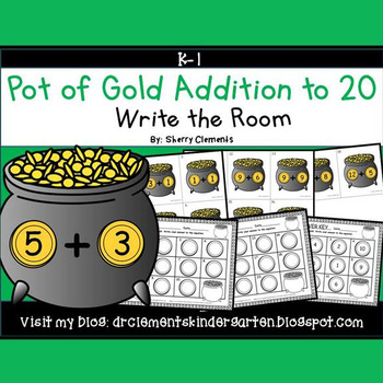 Pot of Gold Write the Room (Addition to 20)