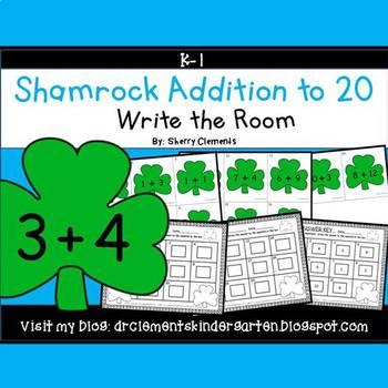 Shamrocks Write the Room (Addition to 20)