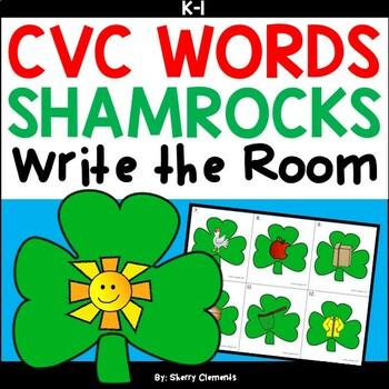 Shamrock Write the Room (CVC Words)