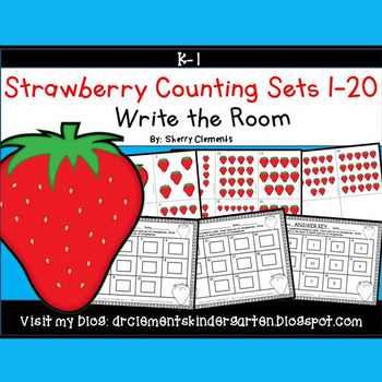 Strawberry Write the Room (Counting Sets 1-20)