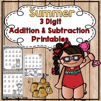 3 digit Addition and Subtraction with Regrouping Printables