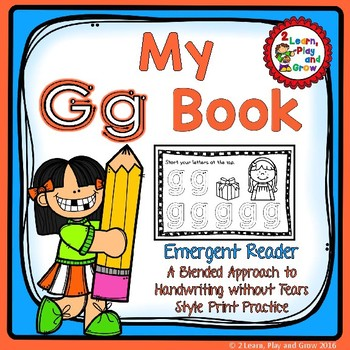My own Letter Gg Book for letter identification, rhyming &