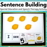 Build a Sentence Activity for Speech Therapy and Special E