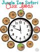 Clock Labels for Telling Time {Jungle Zoo Safari Theme}