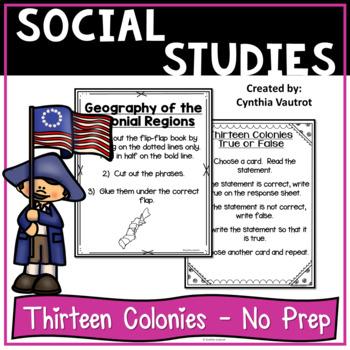 Colonial America No Prep Activities