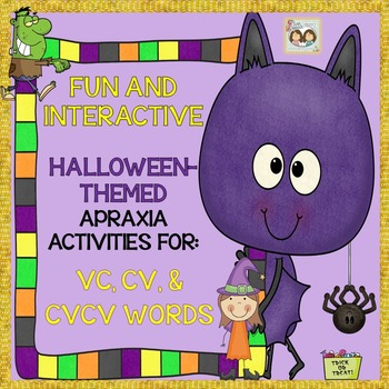 Fun & Interactive Halloween-Themed Apraxia Exercises: VC,