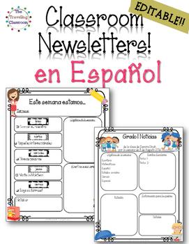 Noticias del Salon - Editable Spanish Classroom Newsletter