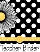 Teacher Planner 2016-2018 Black & White Polka Dot Theme