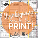 Thanksgiving Music Worksheets {Ready Set Print}